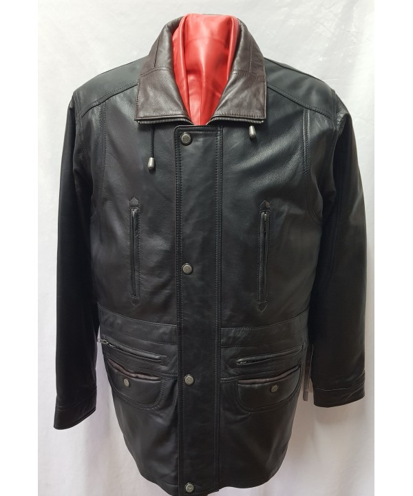 3/4 car coat  black/brown G300