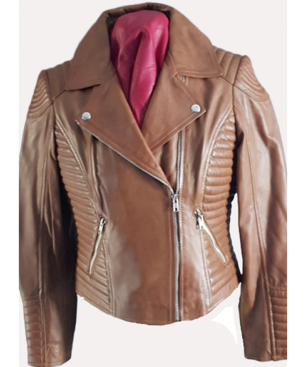 Ladies biker tan colour