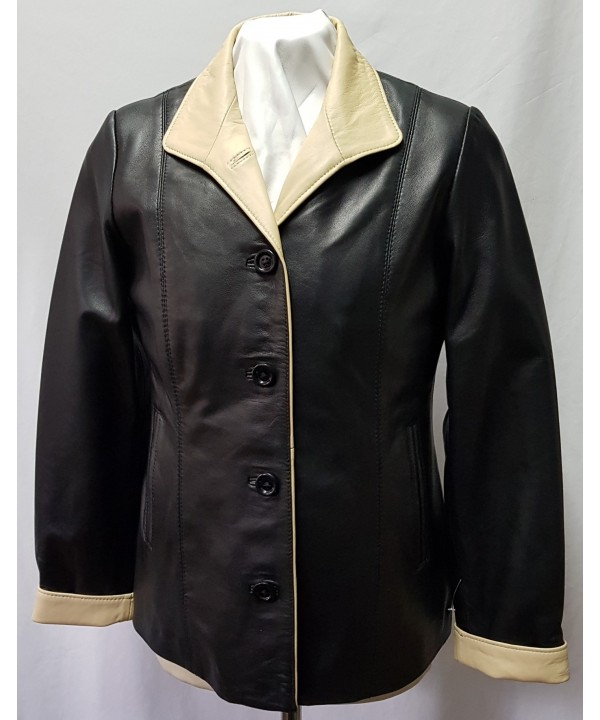 Ladies Soft Sheep Napa Leather Jacket