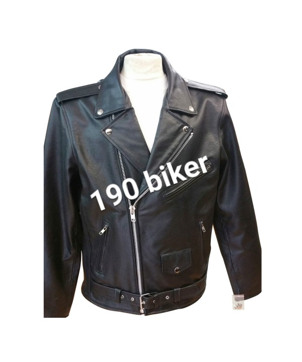 Mens Brando perfecto Style Motor Biker Leather Jac...