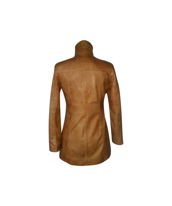Soft Tan Knee Length Jacket121
