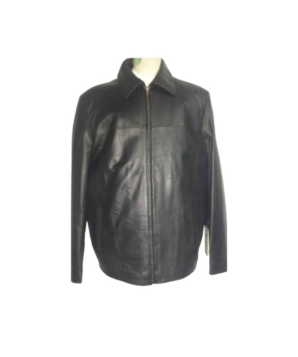 HARRINGTON ANTIQUE SOFT BLACK LEATHER JACKET