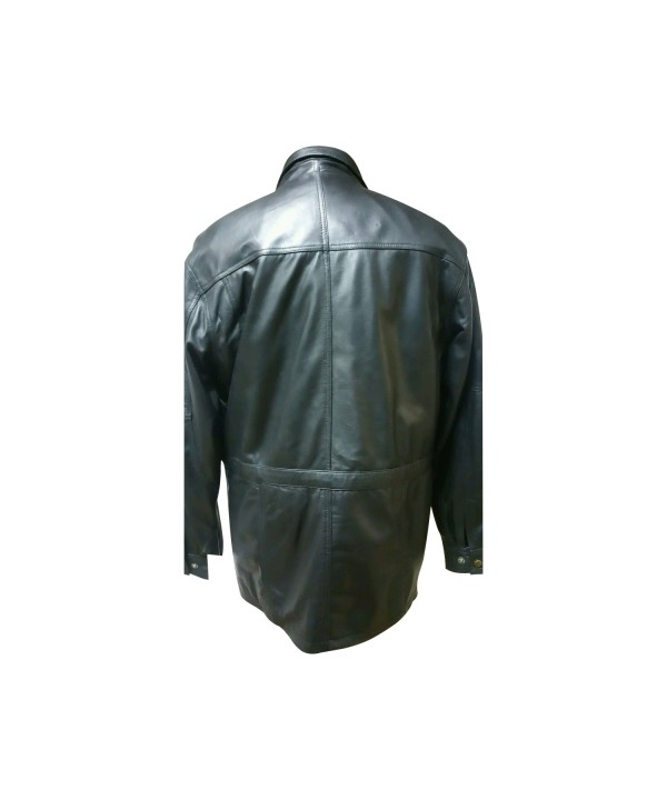 MEN PARKA LEATHER COAT